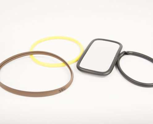 Flexible PVC heat sealed gasket
